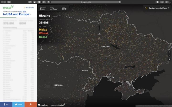 Украина заняла второе место в Европе и США по площади угодий (инфографика)