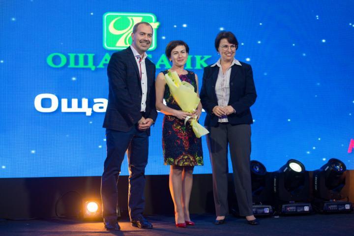 Иван Евтушенко, генеральный директор компании Триум; Елена Ковальская, директор по маркетингу Ощадбанка; Елена Волошина, глава IFC в Украине.