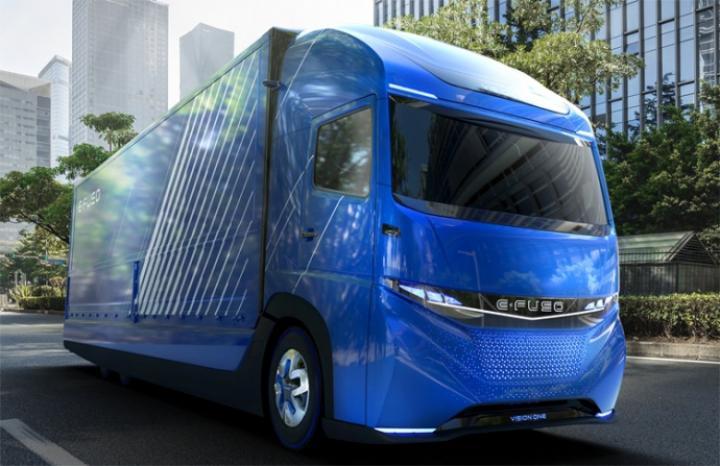 НеTesla: вЯпонии показали видео презентации первого вмире электрического грузового автомобиля